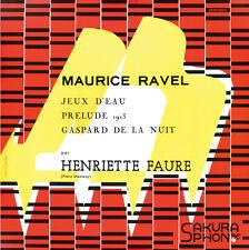 """Henriette Faure plays Maurice Ravel ~ """"Gaspard de la nuit"""" (mini LP Jacket CD)"""