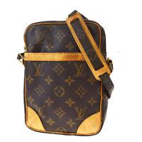 Auth LOUIS VUITTON Danube Shoulder Bag Monogram Leather Brown M45266 32MD882