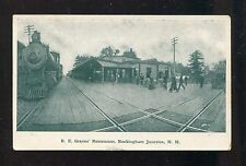 VTG. - DEPOT - R.E. GRAVES' RESTAURANT - ROCKINGHAM JCN., NH - POSTCARD - UNUSED