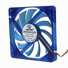 12V 0.16A 8cm 80mm 80x80x10mm Blue Case Brushless PC CPU Cooling Fan 3pin Mute