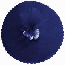 """50 Scalloped Tulle Circles 9"""" Wedding Favor Wrap - Navy Blue"""