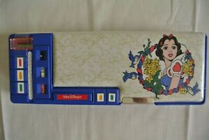 Vintage Disney Snow White Pull Out Compartment FLOMO Pencil Case Box