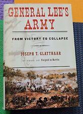 CIVIL WAR CONFEDERACY confederate book GENERAL LEE'S ARMY hardback/dj