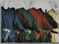 Medieval Shirt Fashion Renaissance Landlord Button-Front Top Men Cosplay Costume