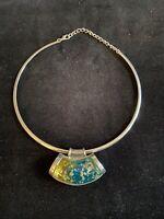 Vintage Dichroic Glass Torque Necklace