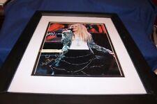 MILEY CYRUS POP SINGER SUPERSTAR HAND SIGNED 8 X 10 PHOTO W/COA MATTED & FRAMED