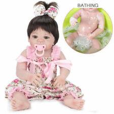"22""Lifelike Reborn Baby Doll Handmade Silicone Full Body Vinyl Newborn Dolls Toy"