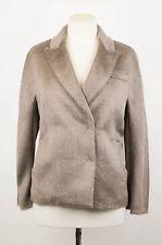 New. BRUNELLO CUCINELLI Women's Gray Alpaca Blend DB Sport Coat Size 6/42 $3845