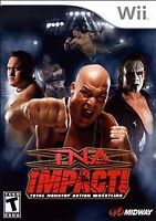 TNA Impact Wrestling (Nintendo Wii, 2008) Midway New Factory Sealed Game