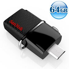 SANDISK OTG ULTRA DUAL USB3.0 64GB 64G Flash Drive Memory For Android 150MB/s*