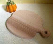 "New Natural Solid Wood Apple/Paddle Shaped Cutting Board - Approx. 8"" x 11"""