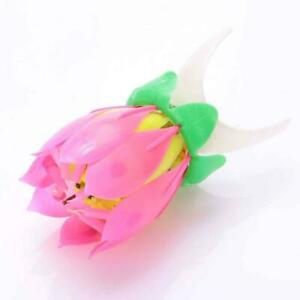 1pc Flower Candle Musical Blossom Candles Happy W2I5 Gift Party Z5X0