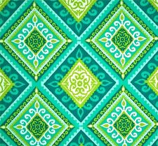 Outdoor/Indoor~ Decorator- Upholstery~ Ikat ~ Spanish Tile ~Fabric~ per 1 yard