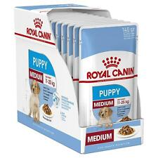 12 x Royal Canin Medium Puppy Wet Dog Food - 0-12 Months or 11-25kg Adult - 140g
