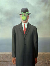 Rene Magritte Son of man  giclee 8X12 canvas print art reproduction poster