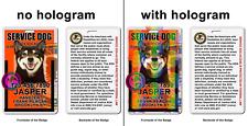 Service Dog photo ID Symbol ADA orange Badge wallet card ID