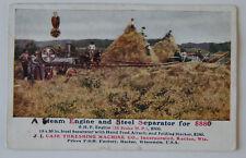 CASE Steam Engine Tractors Wisconsin USA Vintage Postcard CPA ST30500618