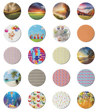"""Ambesonne Pastel Round Non-Slip Rubber Modern Gaming Mousepad, 8"""""""