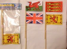 5 packs of Sand Flags x 4 Union Jack,Three Lions,Wales Red Dragon, Lion Rampant