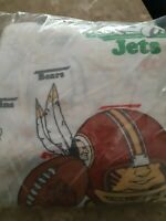 Vintage Sears Flat Sheet Twin Football Teams Sports Bedding Perma Press Bedroom