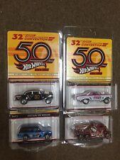 2018 Hot Wheels 32nd Convention 4-car SET 65 Mercury 55 Chevy Gasser Datsun Punk