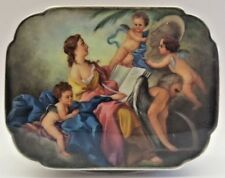 German Sterling Enameling Cherub Painting Box    MAGNIFICENT