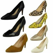 Ladies Clarks Laina Rae Heeled Court Shoes