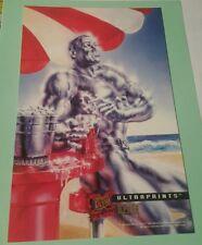 X-men fleer 1995 ultraprints -iceman