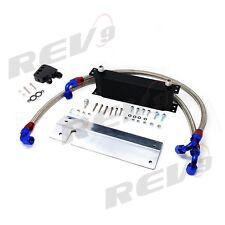 REV9 12 ROW ENGINE OIL COOLER KIT BOLT ON 97-04 CHEVROLET CORVETTE C5 LS1 LS6