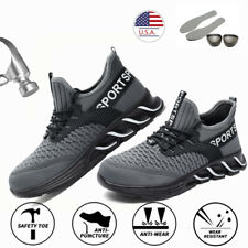 Men Indestructible Safety Work Shoes Steel Toe Boots Lightweight Sneakers Hiking