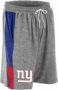 Zubaz NFL Football Mens New York Giants Gray Space Dye Shorts