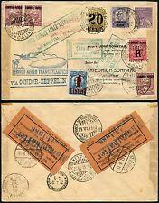 Zeppelin Brasilien 1932 3. Südamerikafahrt Doppelverwendung Kolumbien Si 151A/68