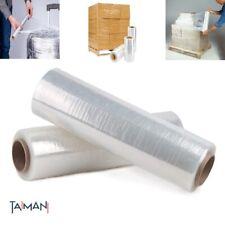 Black Pallet Stretch Wrap Shrink Strong Parcel Packing Cling Film Rolls 150//300M