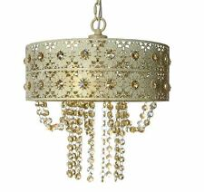 Swag Chandelier Plug In For Bedrooms Shabby Chic Jeweled Light Fixture Hanging