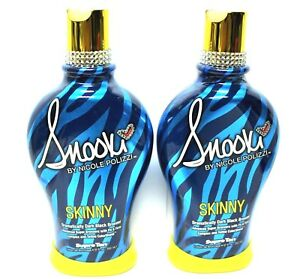2x~SNOOKI~SKINNY~DARK BLACK BRONZER~FIRMING~INDOOR~TANNING BED~LOTION~SUPRE~Tan