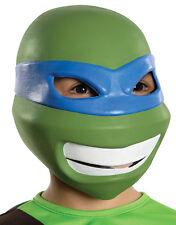 Leonardo 3/4 Máscara De Vinilo, Niños Teenage Mutant Ninja Turtles Traje Accesorio