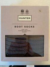 *BRAND NEW* Hunter Womens Half Cardigan Boot Socks, Large, Dark Slate