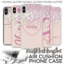 PERSONALISED PINK NAME INITIALS SHOCKPROOF CASE COVER FOR APPLE IPHONE 7 8 11 XR