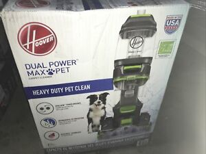 Hoover Dual Power Max Pet Carpet Cleaner w/ Antimicrobial Brushes, Store demo