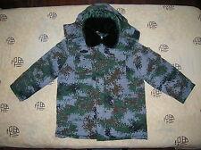 07's series China PLA Winter Woodland Digital Camouflage Combat Cotton Overcoat
