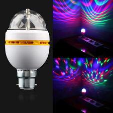 B22 3W RGB Crystal Ball Stage Light RGB LED Rotating Lamp Party Disco DJ GA