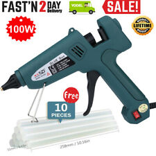 100W Hot Melt Glue Gun Electric Trigger Adhesive Crafts with 10 Free Glue Sticks