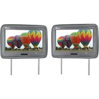 "Tview T122PLGR 12.1"" Headrest Monitor Ir Transmitter Remotes Gray Pair"