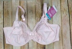 New Olga Lace Escape Underwire Bra Size 42D Pink