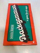 "Vintage ""Backgammon"" board game by House Martin 1970s. Xmas Family Retro Gift"