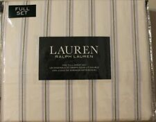 Ralph Lauren Full Sheet Set Striped Lilac Green 4pc Bed Cottage Country Classic
