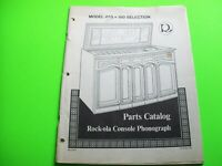 Rock Ola Grand Salon 468 Original Jukebox Phonograph Music Parts Catalog Manual
