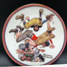 Norman Rockwell Collectors Plate miniature First down 1951 four seasons football