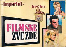 MOVIE STARS - IMPERIAL KRSKO - Vintage 1968 YUGOSLAVIAN STICKER ALBUM