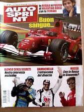 AUTOSPRINT n°32-33 2005 con maxi Poster Valentino Rossi su Ferrari   [P52]
